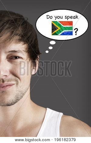 Handsome student thinks do you speak African?