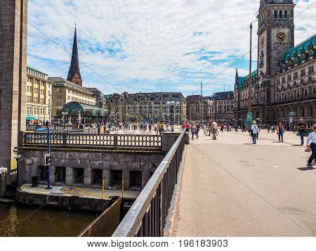 Kleine Alster In Hamburg Hdr