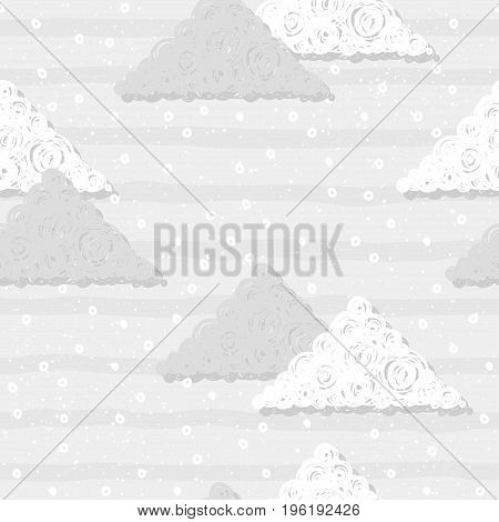 Doodle Triangle Seamless Pattern Background.
