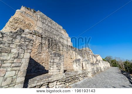 Mayan Architecture In Becan, Mexico