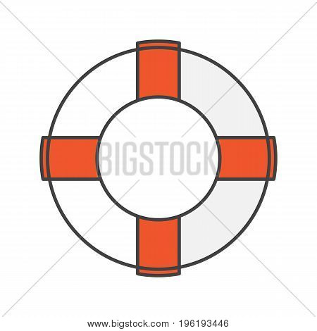 Life ring color icon. Life buoy. Isolated vector illustration