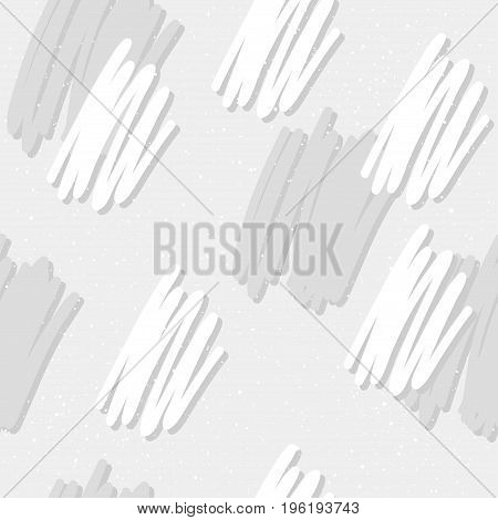Doodle Line Seamless Pattern Background.