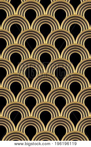 Abstract Metallic Yellow Circle