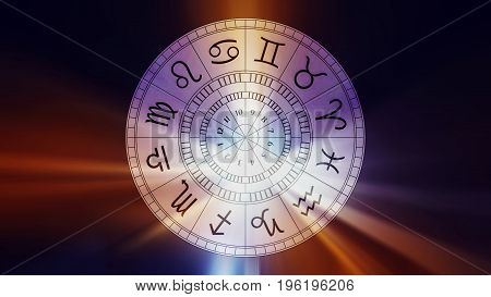 Zodiac astrology signs for horoscope simple lineart illustration