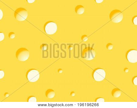 The texture in the form of cheese, vector art illustration.