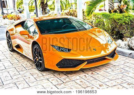 Supercar Lamborghini Aventador Orange