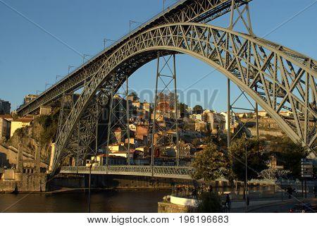 Dom Luis Bridge on Oporto Porto Portugal
