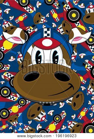 Racing Driver Cow 9