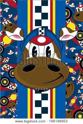 Racing Driver Cow 10