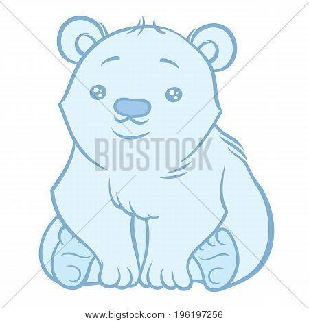 Illustration of cute cartoon baby Polar Bear