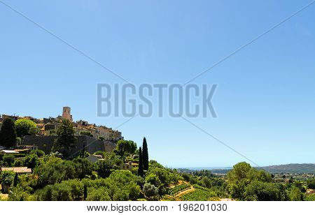Saint Paul de Vence France. Old medieval town of the French Riviera
