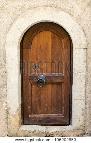 Ancient Door In The Monastery