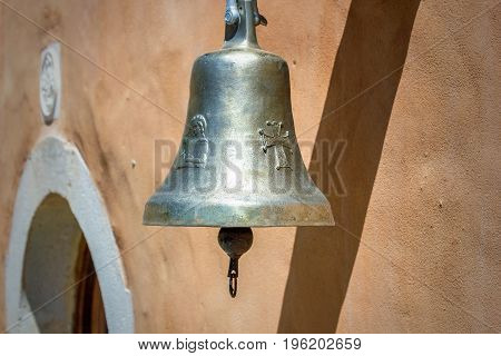 Vintage Bell On The Wall