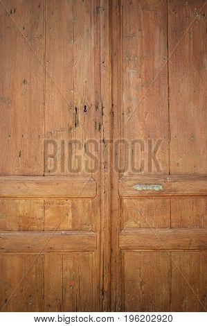 The Texture Of The Wood Door