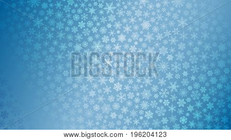 Christmas Background Of Small Snowflakes