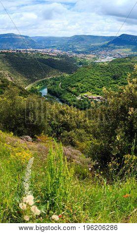 Summer Valley River Tarn, France.