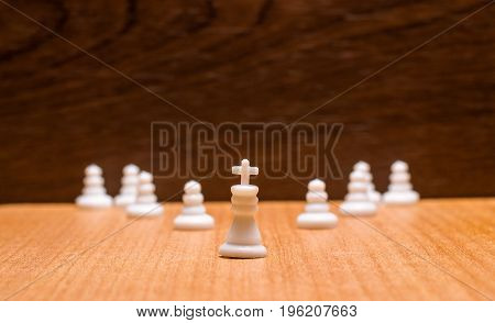 The toy leader at the head of the suite is a very ancient and very popular game called chess
