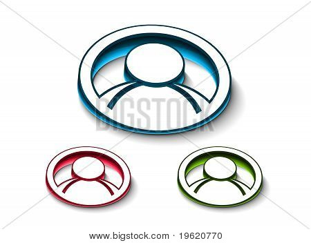 3D Glossy  User Web Icon