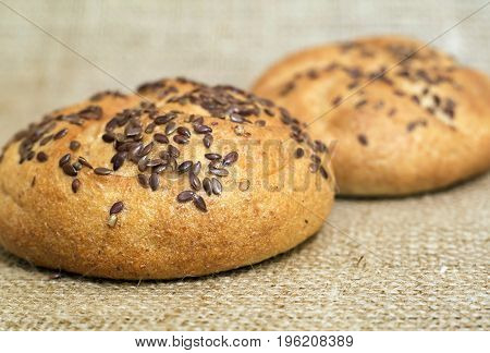 Bakery goods - loaf with sesame seeds