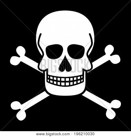 Skull and crossbones. Jolly Roger. Pirate symbols. Vector illustration