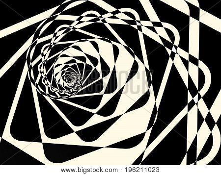 Abstract Duotone Dark Twirl Background. Vector Illustration