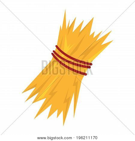 sheaf of hay flat cartoon icon. Hay vector illustration for design and web isolated on white background. sheaf of hay vector object for labels, logos and advertising