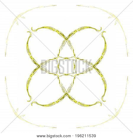 Abstract Grunge Yellow Isolated Floral Pattern