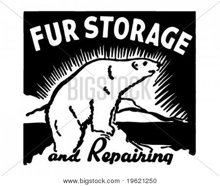 Fur Storage - Retro Ad Art Banner