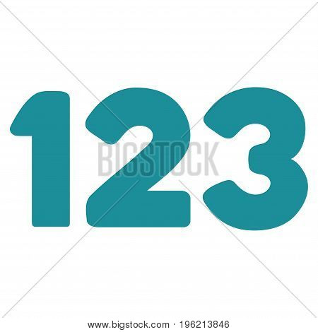 Digits vector icon. Flat soft blue symbol. Pictogram is isolated on a white background. Designed for web and software interfaces.