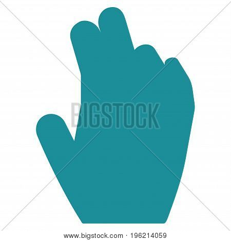 Manage Hand vector icon. Flat soft blue symbol. Pictogram is isolated on a white background. Designed for web and software interfaces.