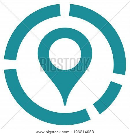 Map Marker Diagram vector icon. Flat soft blue symbol. Pictogram is isolated on a white background. Designed for web and software interfaces.