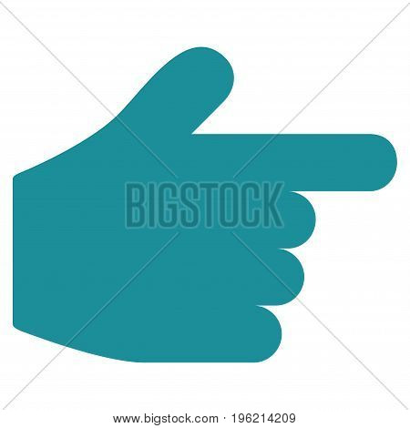 Pointer Finger vector icon. Flat soft blue symbol. Pictogram is isolated on a white background. Designed for web and software interfaces.