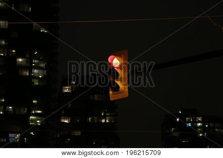 Background red light modern city urban highrises