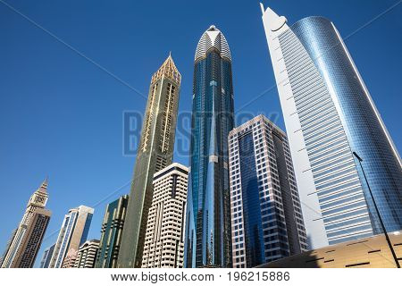 The Modern Skyscrapers Along Sheikh Zayed Road UAE