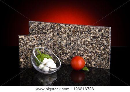 Granite counter tops. Kitchen granite countertops color samples. Modern kitchen countertops. Colorfull kitchen granite countertops squares. Countertops concept. Granite Stone.