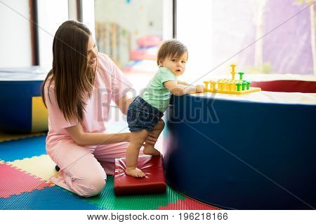 Baby Maintaining Balance