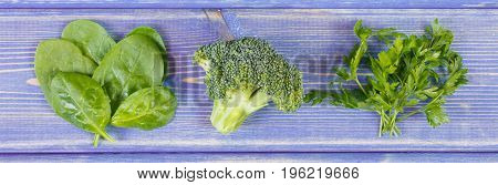 Fresh green vegetables containing calcium and dietary fiber natural sources of minerals healthy lifestyle and nutrition