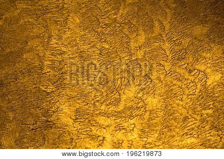 Golden Metallic Shinny Textured Background With Detail Pattern