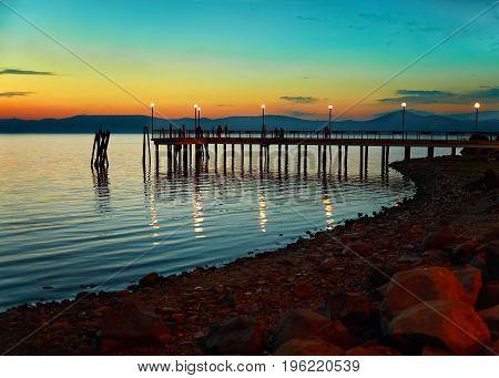 Evening On Bracciano Lake
