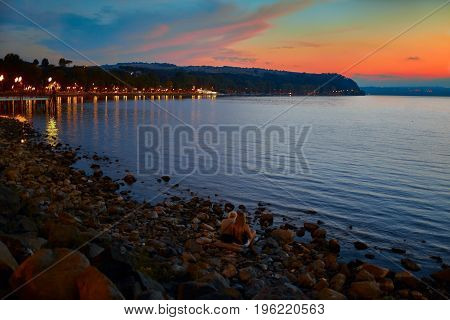 Bracciano Lake At Twilight