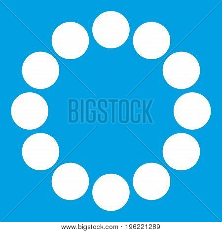 Sign expectations page load icon white isolated on blue background vector illustration