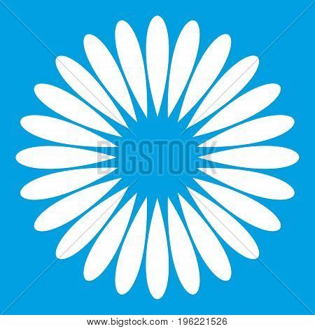 Waiting download icon white isolated on blue background vector illustration