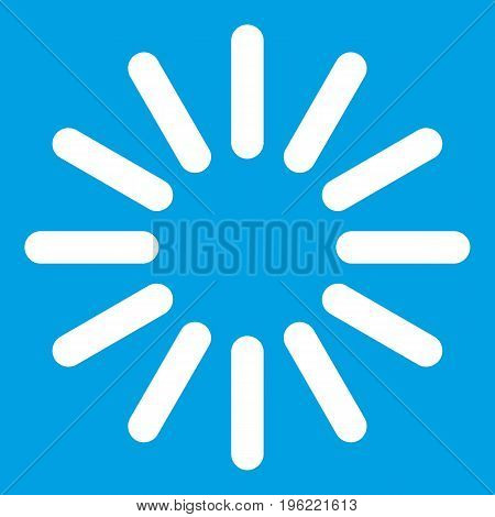 Sign waiting download icon white isolated on blue background vector illustration