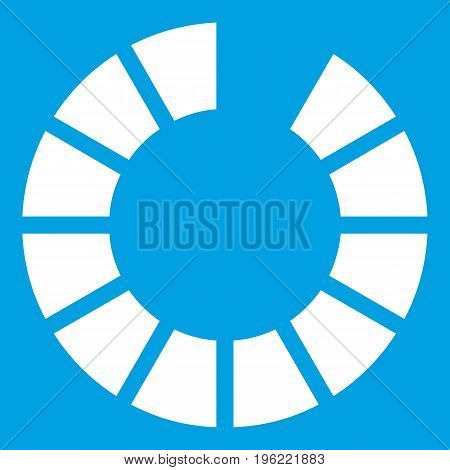 Sign waiting download on internet icon white isolated on blue background vector illustration