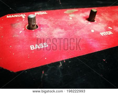 Close up picture of sound system machine
