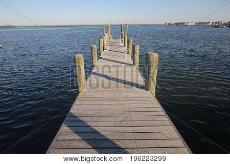 A wooden dock near brigantine new jersey