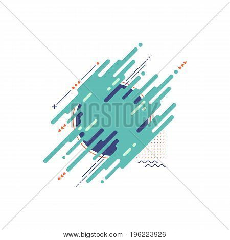 Abstract modern geometric background design element template can be used for book cover backdrop vector illustration