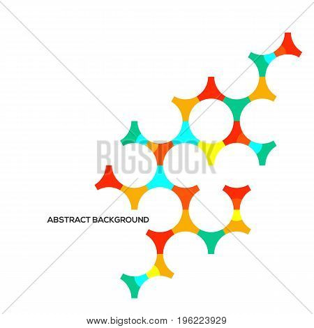 Abstract modern geometric composition background design element template for poster backdrop book cover brochure leaflet vector illustration