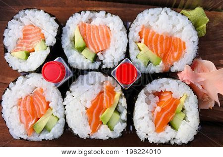 Salmon Sushi Tray