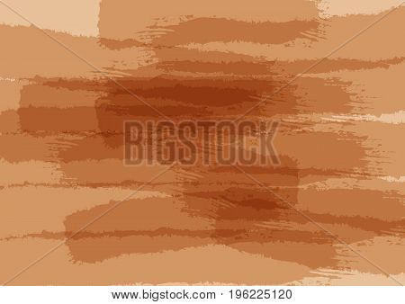 Abstract brown texture. Rectangular watercolour background. Grunge sketch ink paint graffiti. Vector illustration.